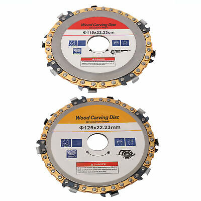 """4.5"""" 5"""" Angle Grinder Disc Chain Link Saw Blade for Wood Carving Cutting Tool"""