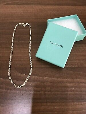 "Tiffany & Co Sterling Silver 18"" Venetian Link Necklace"