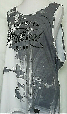 Firetrap Blackseal Mens Bird Design Vest - Size L