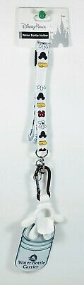 NEW Disney Parks Mickey Mouse Water Bottle Holder/Carrier Keychain and Lanyard