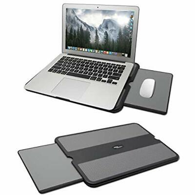 Portable Laptop Pad, Desk Retractable Mouse Tray, Anti-Slip Heat Shield Notebook