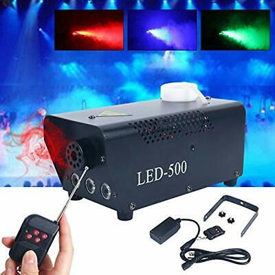 500W Wireless Remote Control Portable Christmas Party Fog Machine Built-In LED