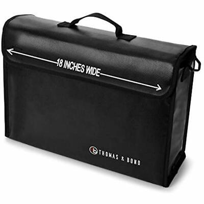 "Thomas "" Bond Extra Large Fireproof Bag 18x12x5 Holds Legal Size Files Binders A"