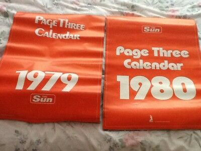 Sun Page 3 calendars 1979 and 1980
