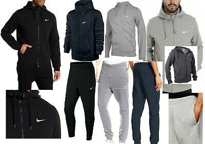 Nike Men`s Club Fleece Full Tracksuit Swoosh Full Zip Hoodie Pants