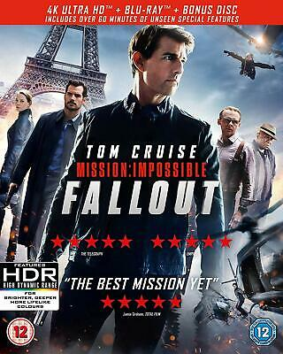 Mission Impossible Fallout 4K UHD + Blu-ray  + bonus disc Tom Cruise NEW