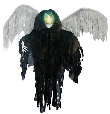 3' HANGING LIGHTED WINGED SKELETON HALLOWEEN PROP Decor HAUNTED Spirit Reaper