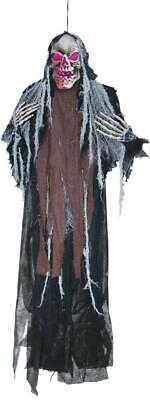 LifeSize 5' CREEPY SKELETON Halloween Prop LIGHTED Hanging Decor HAUNTED Spirit
