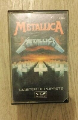 Metallica K7 Audio Tape-Cassette Master Of Puppets