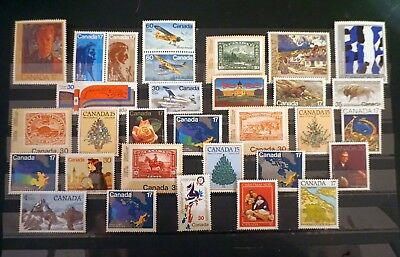 CANADA  1981, 1982  NICE selection of 31 different COMMEMORATIVES  MNH mint  #J7