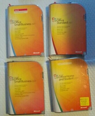 4 MICROSOFT OFFICE LOT 1 Small business  1 Home & Student 2007 W/ KEYS + 2 more