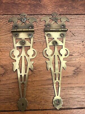 late victorian ornate brass coal box hinges