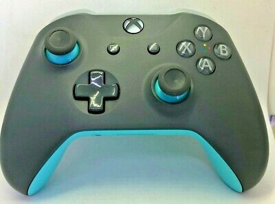 Microsoft  Xbox One and Windows 10  Wireless Controller for Gray/Blue  Bulk