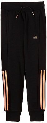 ADIDAS Essentials Girls 3 Stripe Joggers Trousers Black Age 3-4 Years BNWT