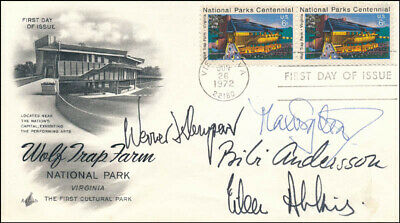 Max Von Sydow - First Day Cover Signed With Co-Signers