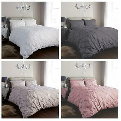 Olivia Rocco Pintuck Duvet Cover Set Easy Care Cotton Rich Quilt Covers Bedding