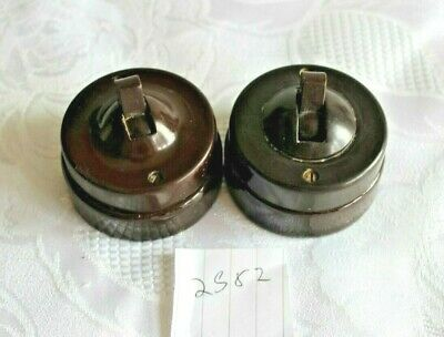 architectural salvage bakelite electric light toggle switch2582