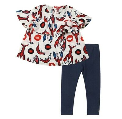 Catimini Girls Top And Legging Set, New With Tags, 5 Years