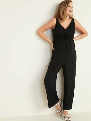 Old Navy NEW NWT Black Sleeveless Maternity Wrap-Front Jumpsuit $37 XS