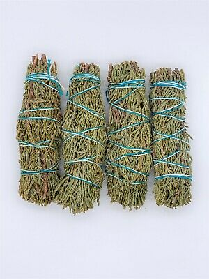 4X Juniper Sage Smudge Sticks / Wands - House Cleansing Negativity Removal