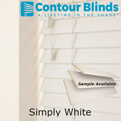 REAL WOOD WOODEN VENETIAN BLINDS - 35 & 50mm SLAT SIZES - CHILD SAFE BLIND.