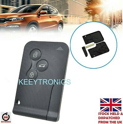 NEW Fits Renault Megane Scenic 3 button Key Card Shell/Case + Blade **A84
