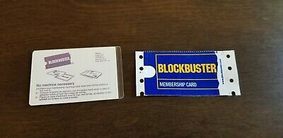 *BLANK* Blockbuster Video Membership Card AND Laminate Vintage *VERY RARE*