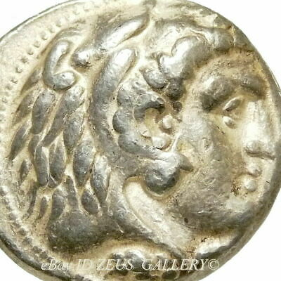 ALEXANDER the GREAT Macedon Herakles Ancient Greek Silver Tetradrachm Coin Sidon