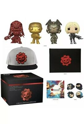 Funko Pop GEARS OF WAR COLLECTOR'S EDITION BOX Gamestop Exclusive FREE Shipping