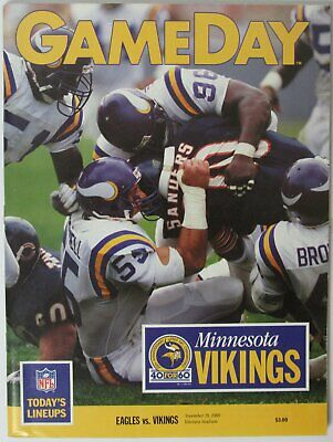 1989 Philadelphia Eagles vs. Minnesota Vikings NFL Game Program 145656