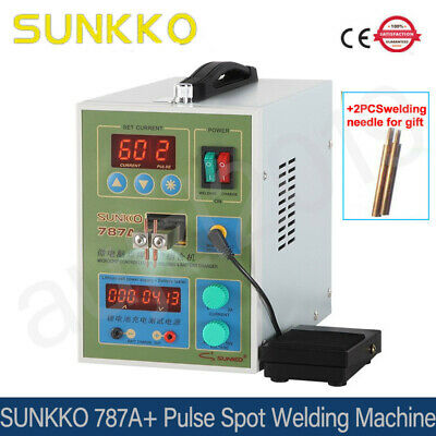 SUNKKO787A+ 220V  Pulse Spot Welding Machine Microcomputer For 18650 Battery