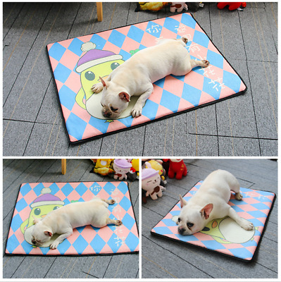 Pet Dog Cooling Mat Pad Summer Cooler For Dog Crate Bed Comfortable Beds