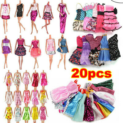 10/20Pcs Dresses for Barbie Doll Fashion Party Girl Dress Clothes Gown Toy Gift