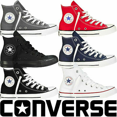 Converse All Star Mens Womens High Lo Tops Unisex Chuck Taylor Trainers Pumps UK