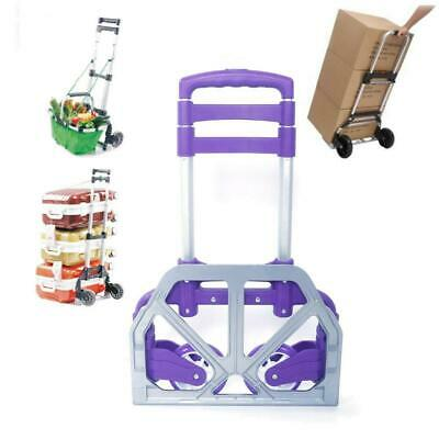 Cart Folding Dolly Push Truck Hand Trolley Luggage Cart w/ Free Bungee Cord