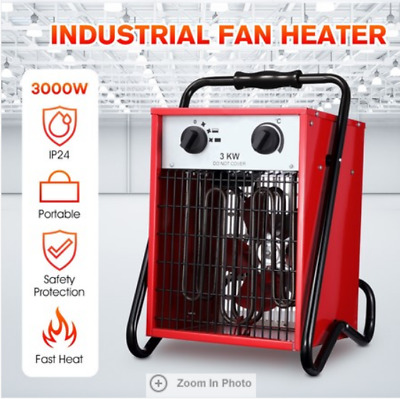 3000W Electric Industrial Fan Heater Garage Fast Heating Air Blower Portable Spa