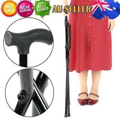 3 Legs steady Handle Cane Walking Stick for Elderly Foldable Crutch with Seat