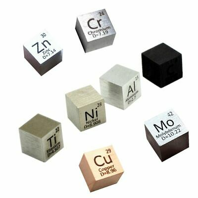 Element Cube 10mm Pure Density 99.95%  Metal Collections C Al Ni Ti Cu Hand Made