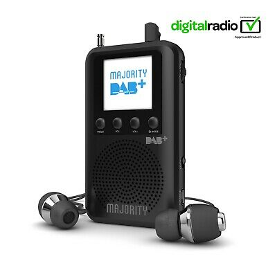 Portable DAB/DAB+/FM Digital Radio with Built-in Speaker, Rechargeable 20+ Hours