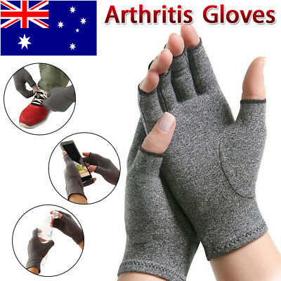 Arthritis Gloves Compression Joint Finger Pain Relief Hand Wrist Support Brace L