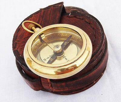 Vintage Maritime Nautical Brass Pocket Compass Style Gifted Compass