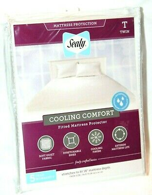 Sealy Cooling Comfort Fitted Twin White Mattress Protector