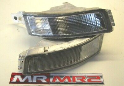Toyota MR2 MK2 After Market Front Bumper Clear Side Indicator Signal Lights