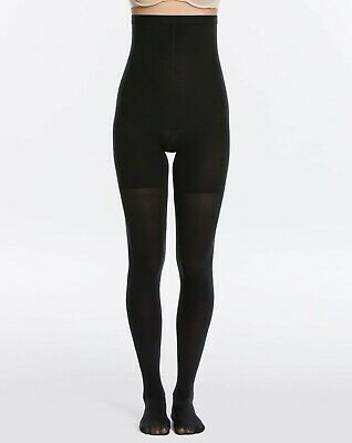 Spanx Womens Luxe Leg High Waisted Tight Black Opaque, Spanx FH431