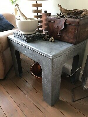 Industrial Galvanised Metal Water Tank Coffee Table Professionally Converted