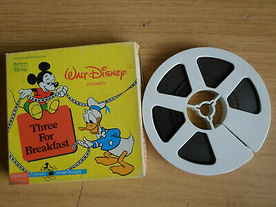Super 8mm colour silent 1X200 THREE FOR BREAKFAST. Walt Disney cartoon.