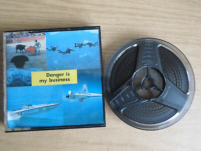 Super 8mm sound 1X200 DANGER IS MY BUSINESS : Shark Doctor. Documentary.