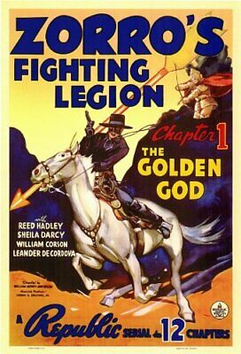 Super 8mm sound 1X50 ZORRO'S FIGHTING LEGION serial trailer. 1939 classic.