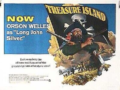 Super 8mm sound 1X50 TREASURE ISLAND Trailer. Orson Welles classic.