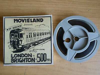 Super 8mm sound 1X150 LONDON TO BRIGHTON AT 500mph. Polyester print.